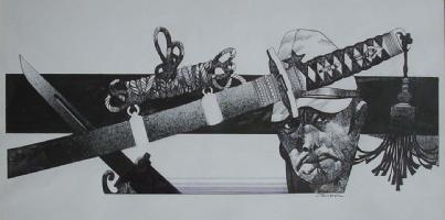 Sergio Toppi: Yukio Mishima - Illustrazione Comic Art