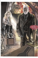 The War Doctor and  Rose  by JK Woodward Comic Art