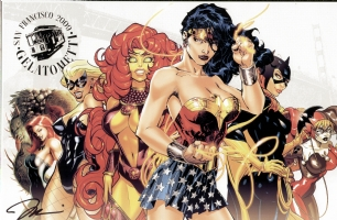 DC Girls - Jim Lee Comic Art
