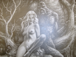 NSFW Swamp Thing and Abby Comic Art