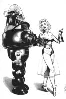 Forbidden Planet Robby the Robot Comic Art