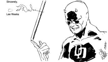 Daredevil sketch. Author : Lee Weeks Comic Art