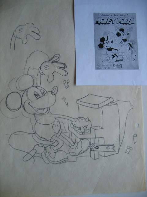 MICKEY MOUSE THEME SONG Comic Art