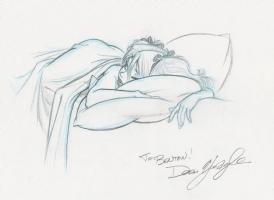 Mandy Sleeping Comic Art