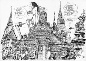 Crepax  Emanuelle  original artwork Comic Art