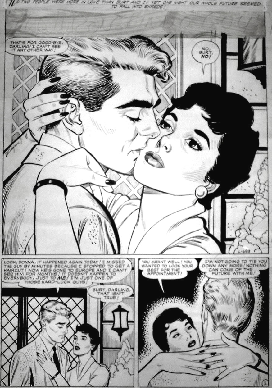 John Tartaglione - Love Tales #73 (Atlas) Comic Art