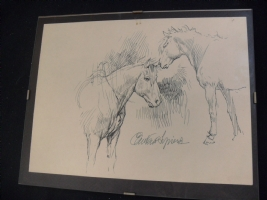 Paolo Eleuteri Serpieri - Horses - sketch Comic Art