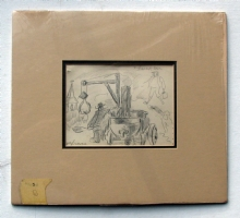 ROBERT  BOB  BROWN - MATTED SKETCH  Comic Art