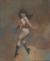 Vampirella * Don't Be Cheeky * NSFW * Mike Hoffman minature oil painting masterwork!, Comic Art