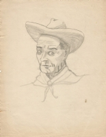 Cowboy with Hat * Li'l Abner character? * Don Harding 1943 Comic Art