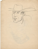 OTHER Cowboy with Hat * Li'l Abner character? * Don Harding 1943 Comic Art