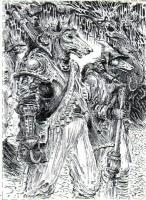 Dog Soldiers * Ian Miller Everway Original Art Comic Art
