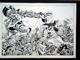 Infantino Nino - Comet #1 Wraparound Cover Comic Art
