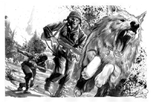 Gunner & Sarge, and Pooch by J.K. Woodward Comic Art