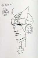 Enemy Ace sketch by Joe Kubert Comic Art