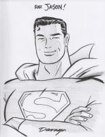 Superman - bust Comic Art