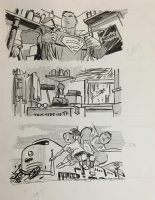 Superman - prelim Comic Art