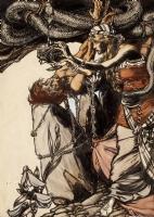 Arthur Rackham-- Loki and Sigyn (The Land of Enchantment 1907), Comic Art