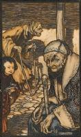 Arthur Rackham -- The Struldbrugs (Gulliver's Travels 1909), Comic Art