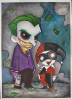 Joker and Harlequin -- Chris Uminga Comic Art