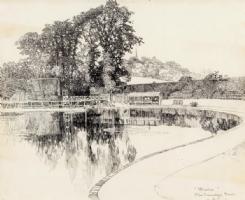 Joseph Pennell -- The Swimming Pond at Harrow, Comic Art