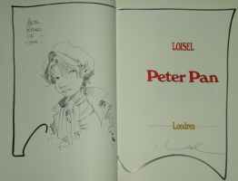 R�gis Loisel -  Peter Pan  sketch Comic Art