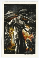 Mars Attacks Rom, Spaceknight painting by JK Woodward Comic Art