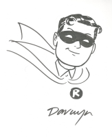 Darwyn Cooke Robin Sketch Comic Art