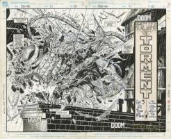 Spider-Man #3 Pages 2 & 3 Double Splash Page Comic Art