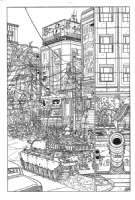 Geof Darrow - Big Guy and Rusty 1p18, Comic Art