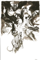 Mike Mignola - Unnatural Selection cover, Comic Art