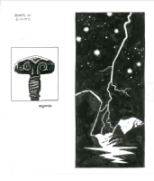 Mike Mignola - Bones of Giants Book Plate 2, Comic Art