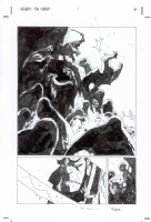 Mike Mignola - Hellboy 23 The Island 1p08 alternate, Comic Art