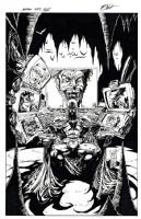 Batman by Ken Hunt - after Marc Silvestri  Comic Art
