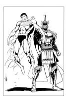ARES vs. Superman by MC Wyman Comic Art
