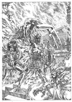 ARES V Wonder Woman Comic Art