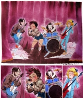 concert watercolor Comic Art
