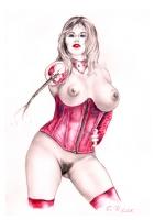 cartoon #4 mistress rose Comic Art