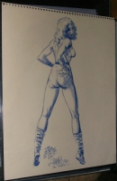 Don Simpson - See-thru Girl (Fantastic Four Invisible Girl) SDCC1986 Comic Art