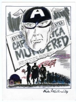 Death of Captain America Allen Bellman Comic Art