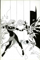 Batgirl  Annual 1 cover Matt Haley Kevin Nowlan Comic Art
