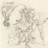 Jam commision Paul Smith Arthur Adams  Denis Loubet and Mike Zeck Comic Art