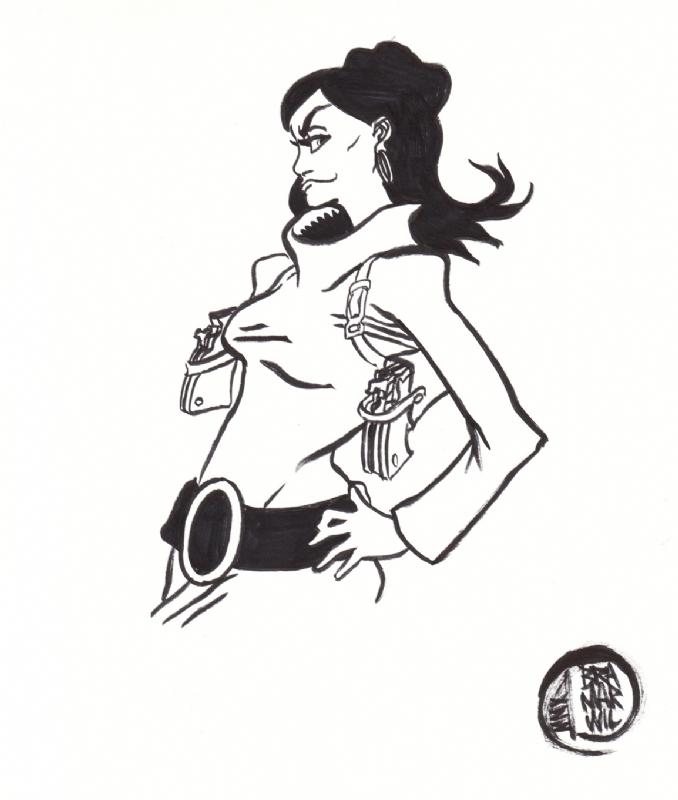 Brad Marshall Wilson Lana Kane Comic Art