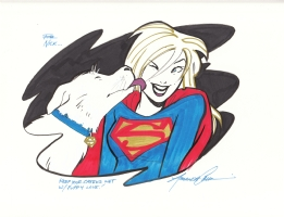 Amanda Conner Supergirl & Krypto Comic Art