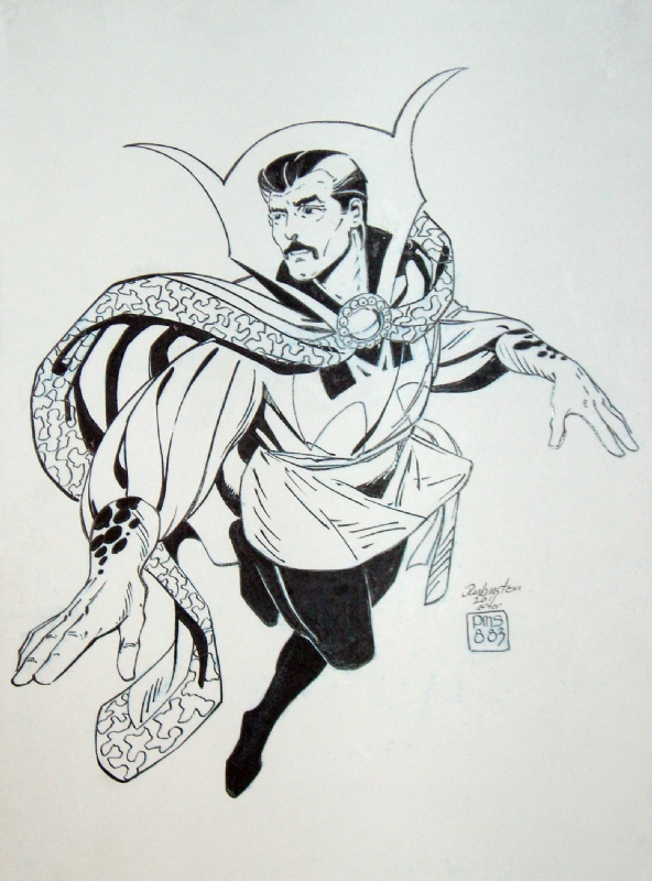 Dr Strange Sketch Inked Comic Art
