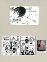 Guido Crepax cartoonist sketch 1999 Comic Art
