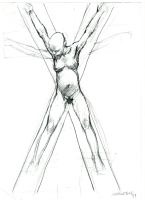 Tanino Liberatore - Pencil Study (for sale) Comic Art