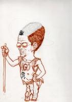 Andrea Pazienza- Ritratto di Filippo Scozzari (for sale) Comic Art