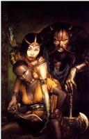 John Bolton - Vampiric Tris I Comic Art