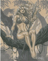 Mark Brooks Shanna the She-Devil, Comic Art